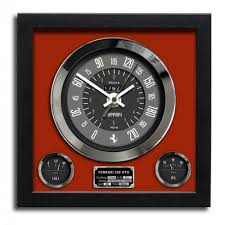 ferrari wall art chronos speedometer art print wall clock ferrari 250 gto red