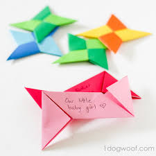 origami thankful ornaments one woof