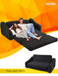 Inflatable Pull Out Sofa by Two Person Inflatable Pull Out Sofa Bed Sb Lg 68566 Black