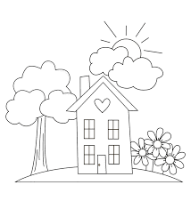 simple home coloring guide on home coloring pages on coloring page