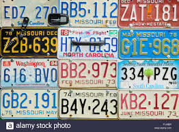 Usa License Plate Map by License Plates Stock Photos U0026 License Plates Stock Images Alamy