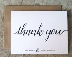 personalized thank you cards note cards etsy