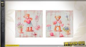 tableau pour chambre d enfant duo de tableaux pour chambre d enfant motifs ours