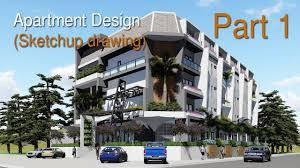 sketchup modeling modern apartment design 04 lumion 6 render
