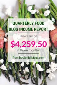 quarterly food blog income report how i made 4 259 50 in three