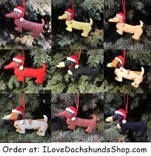 dachshund ornaments handmade santa
