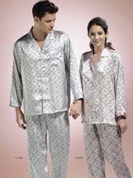 silk couples matching pajamas
