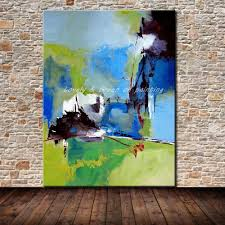 handmade modern abstract oil painting on canvas abstract landscape