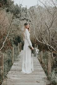 lace wedding gowns lace backless boho wedding dress dreamers and
