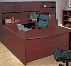 good u shaped desk with hutch