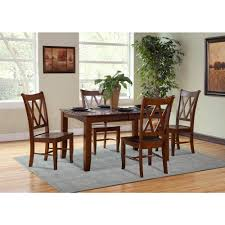 espresso dining room set international concepts espresso wood double x back dining chair
