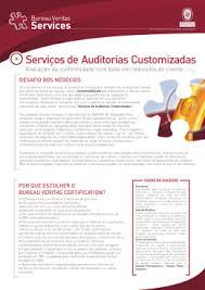 bureau veritas brasil folheto auditorias customizadas