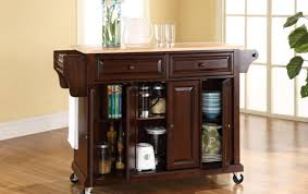 kitchen island carts w rubber wood folding kitchen island cart
