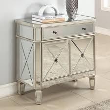 luxury mirrored nightstand design showcasing single drawer and