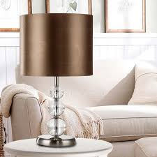 Contemporary Nightstand Lamps Color Fabric Shade Contemporary Table Lamps For Bedroom