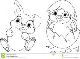 easter bunny coloring page royalty free stock image image 24082136