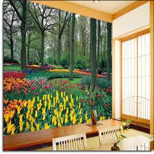 garden wall mural ds8042 tulip garden wall mural ds8042
