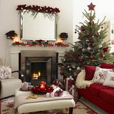 christmas livingroom decorations beautiful christmas tree with balls and red stars