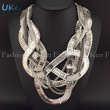 chunky statement chain necklace images Fashion chunky snake chain statement necklaces for women party jpg