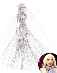 designers sketch their dream wedding dresses for celeb brides to