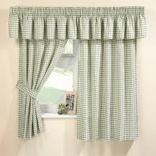 Gingham Kitchen by Malvern Green Gingham Kitchen Curtain Set