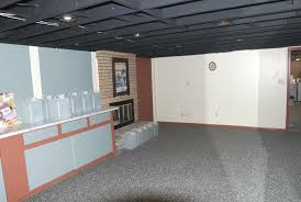 Unfinished Basement Ceiling by Basement Ceiling Paint Home Design