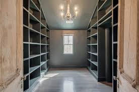 Salvaged French Doors - built in closet shelving