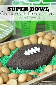 thanksgiving oreo cookies football cookies and cream dip creative juice