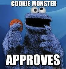 Cookie Monster Meme - today me will live in the moment unless it is unpleasant in which