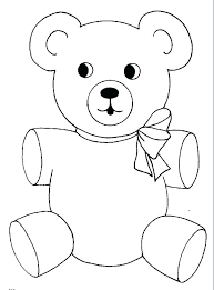 printable ribbon coloring pages of teddy bears teddy printable coloring pages