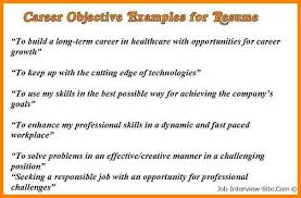 Objectives Sample For Resume by 9 Career Objectives Resume Example Cashier Resumes