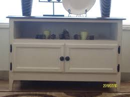 rose shab chic white painted low widescreen tv stand cabinet