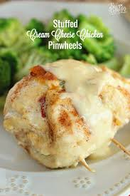 Dinner Ideas Using Chicken Stuffed Cream Cheese Chicken Pinwheels Diary Of A Recipe Collector