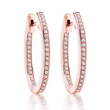 gold hoop earrings uk silver gold cubic zirconia oval hoop earrings 0006360