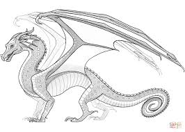 coloring winsome flame coloring rainwing dragon