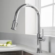 overstock kitchen faucet kraus sellette single handle pull kitchen faucet with dual