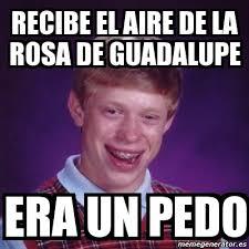 Rosa De Guadalupe Meme - meme bad luck brian recibe el aire de la rosa de guadalupe era un