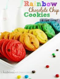 rainbow chocolate chip cookies recipe in katrina u0027s kitchen