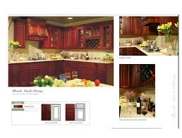 beech dark cherry color arched door kitchen cabinets catalog