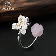 whispers jewelry lotus real 925 sterling silver quartz handmade