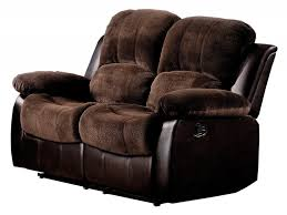 2 Seater Reclining Leather Sofa Living Room Recliner Sofa Luxury Tuxedo Reclining Leather Sofa
