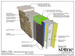 Building Outdoor Kitchen With Metal Studs - architectural specs and detail drawings natural stone veneers