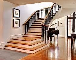 Metal Landing Banister And Railing For Stairs And Landing Staircase Traditional With Curved Staircase