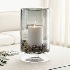 large smoke hurricane candle holder crate and barrel