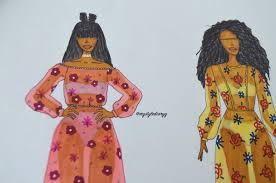 fashion drawing sheer floral maxi dresses mystylediaryy