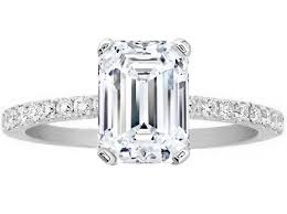engagement rings emerald cut engagement ring emerald cut diamond engagement ring pave