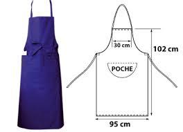 tablier cuisine professionnel tablier de cuisine bleu 1 poche pur coton 95x102 deren cdtvh