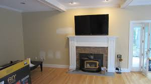 Where To Put Tv Home Decor Clinton Ct U2013 Tv Install Above Fireplace In Wall Wire