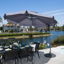 Cantilever Patio Umbrella With Base Tahiti Outdoor Grey Cantilever Patio Canopy Umbrella
