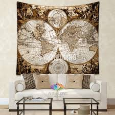 Antique World Map by Antique World Map Wall Tapestry Ancient World Map Wall Hanging